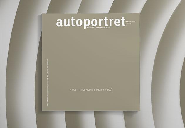 jednokolorowa okładka magazynu autoportret