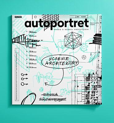 okładka magazynu autoportret z rysunkami przypominającymi notatki