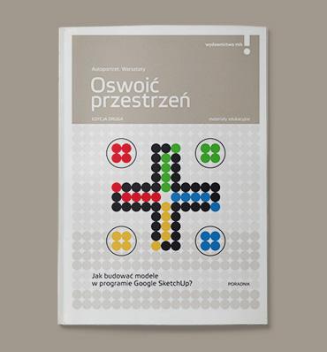 okładka broszury w kolorowymi kropkami formującymi znak plus
