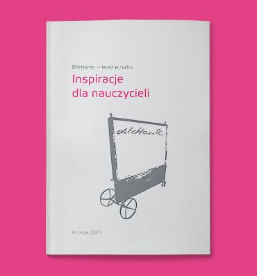 """Okładka """"Dilettante - inspiracje dla nauczycieli"""" z ilustracją ekranu na kółkach"""