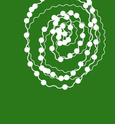Koraliki ułożone w spiralę