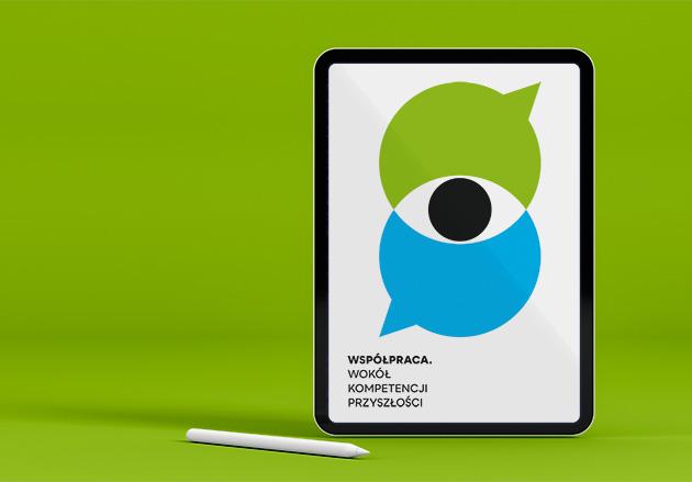 Ilustracja publikacji oWspółpracy naekranie tabletu