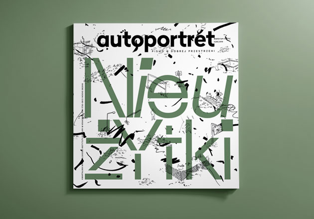 """Autoportret"" magazine cover - ""Nieużytki"" issue"