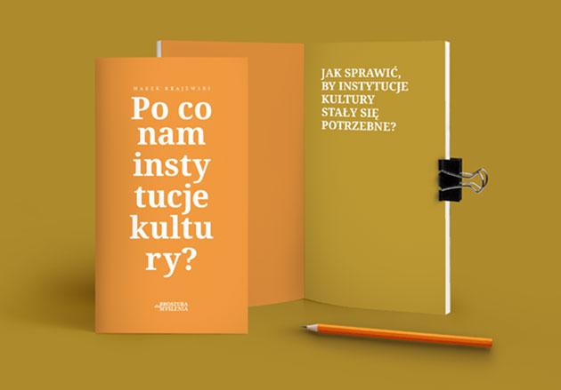 """Zdjęcie broszury """"Poco nam instytucje kultury?"""""""