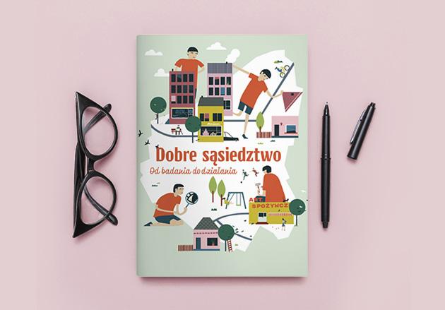 kolorowa, ilustrowana okładka publikacji