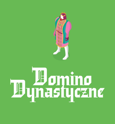 logotyp Domina Dynastycznego - postać króla widziana z perspektywy od góry, jak w grach komputerowych
