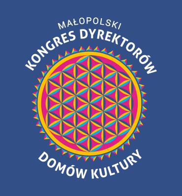Małopolski Kongres Dyrektorów Domów Kultury - okrągły, kolorowy logotyp