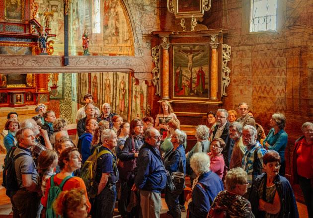 wycieczka oprowadzana pownętrzu kościoła