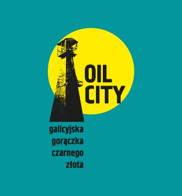OIL CITY - galicyjska gorączka czarnego złota (logotyp przedstawiający platformę wiertniczą)