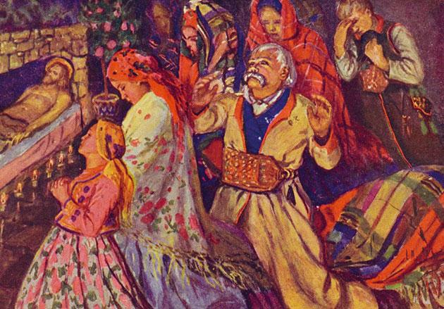 fragment obrazu Jóżefa Krasnowolskiego
